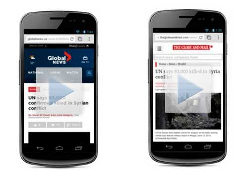 Head-to-head: The new GlobalNews.ca responsive web site vs. The Globe & Mail's adaptive web site.