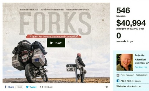 Allan Karl's Kickstarter page.