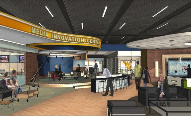 A rendering of WVU's Media Innovation Center.