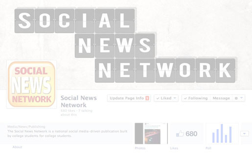 The Facebook page for Socialnn, a student-run new network.