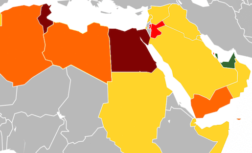 Mideast Media Study Facebook Rules Censoring Entertainment OK - Map of egypt and uae
