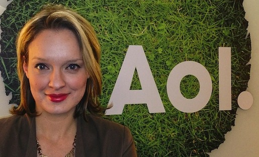 Kerstin Shamberg, director of strategic partnerships and audience development at the Huffington Post, poses at AOL's Chicago office.