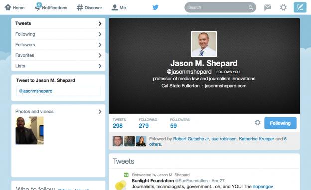 Screenshot of Jason Shepard Twitter Profile