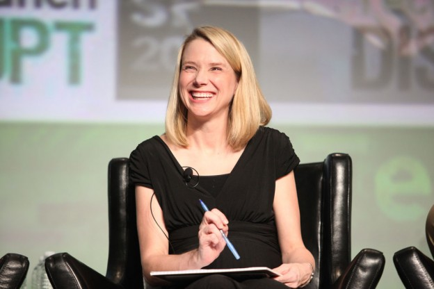 Marissa Mayer in 2012. Photo by TechCrunch and used here with Creative Commons license.