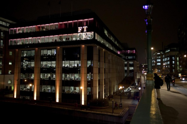 The Financial Times building. Photo courtesy of the Financial Times and used with Creative Commons license.