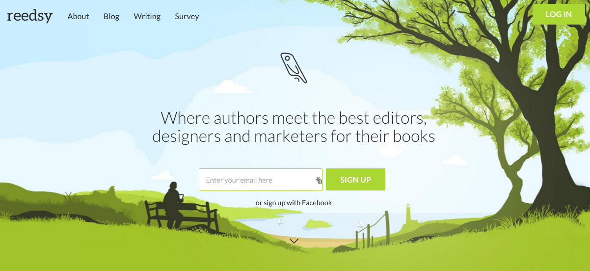 Sites like Reedsy connect authors with book professionals