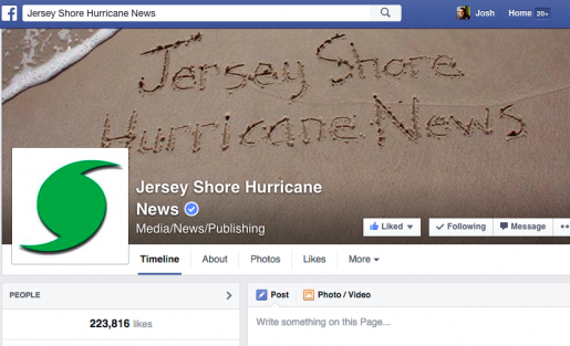 A look at Jersey Shore Hurricane News. Photo provided by Josh Stearn, Local News Lab.
