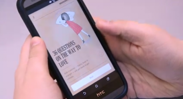 The New  York Times was able to build and release an app based on a popular modern love column by following a prototype from a previous web-based app  its team had created. Screenshot courtesy of RJI.