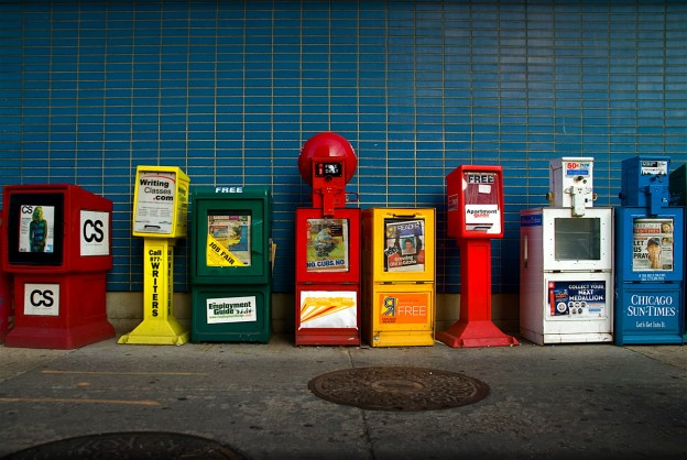 Newspapers. Photo by Renzo Borgatti.