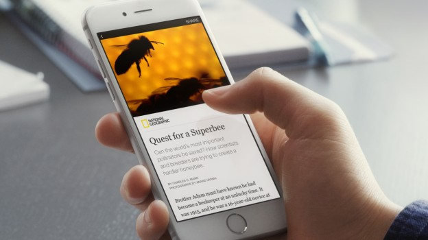 An example of Facebook's new feature Instant Article. (Photo courtesy of Facebook)