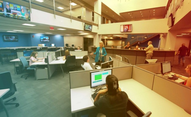 Early days (circa 2013) in the Innovation News Center at the University of Florida.