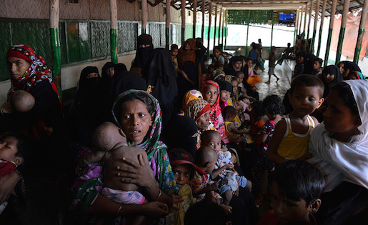Undocumented Rohingya refugees in a clinic in Bangladesh. Photo by EU/ECHO/Pierre Prakash for the European Commission and reused here with Creative Commons license.