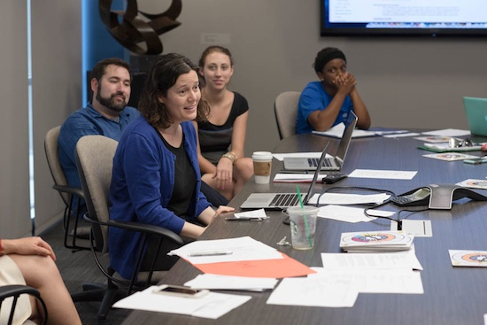 Amy Zerba, New York Times Senior Staff Editor, share's the media company's audience engagement strategies with University of Florida College of Journalism and Communications public relations students.