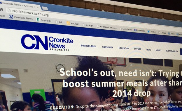 The redesigned Cronkite news website is mobile-friendly.