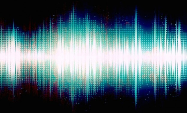 Art shot of audio waves