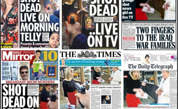 newspaper fronts killing