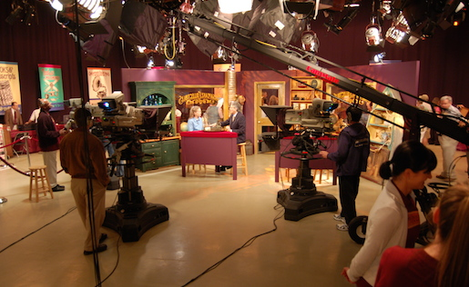 "Inside Maryland Public Television's Studio during the taping of ""Chesapeake Collectibles"" in June 2010. Image courtesy of Wikimedia Commons. Given public TV's funding structure and history, demonstrating diversity hasn't always been easy. That's where independent filmmakers have made a difference."
