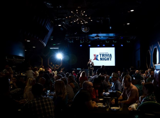Trivia night hosted by Texas Tribune editor-in-chief Evan Smith. Photo courtesy of Callie Richmond.