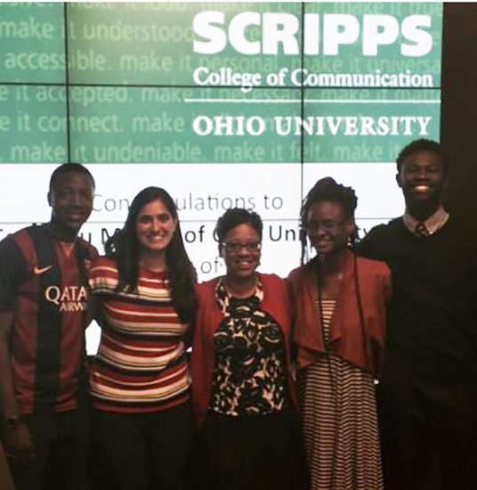 Team DuMonde winning the Scripps International Innovators Cup, 2015.