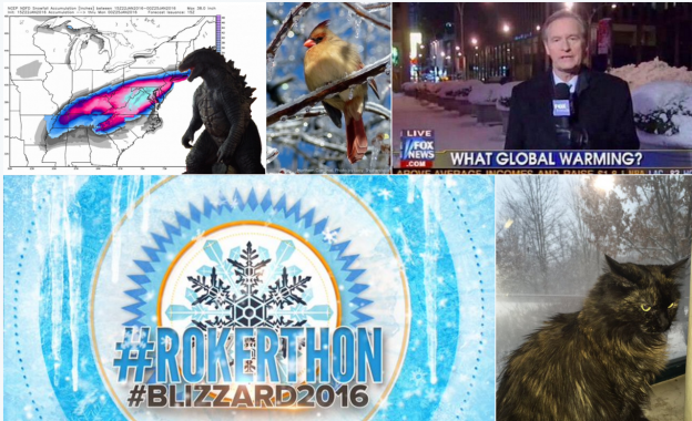 #Blizzard2016 photos via Twitter