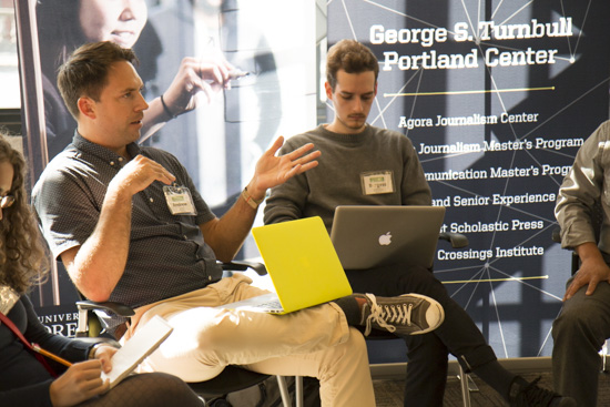 Andrew Haeg, founder and CEO of GroundSource, participates in a breakout session at Experience Engagement. Photo by Emmalee McDonald.