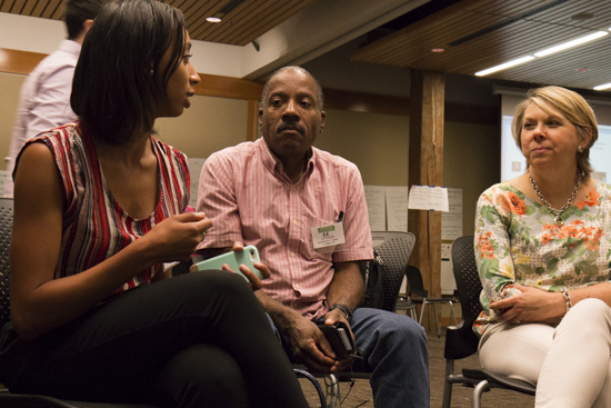 Ed Madison, center, participates in a breakout session at Experience Engagement. Photo by Emmalee McDonald.