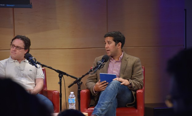 Sachin Kamdar, CEO of Parse.ly, moderating a panel on digital media in New York City. (Photo courtesy of Parse.ly)