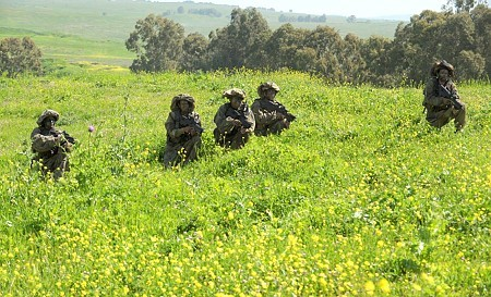 Photos of Israeli soldiers during a military exercise in the Golan Heights. Photos like this are subject to military censors. (Courtesy National Photo Archive/GPO)