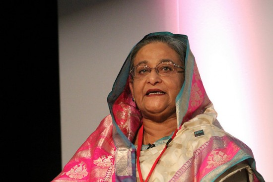 Mahfuz Anum is facing legal action after he admitted to publishing unsubstantiated allegations against Banladesh Prime Minister Sheikh Hasina, pictured here. Photo by Global Panorama> on Flickr and used here with Creative Commons license.