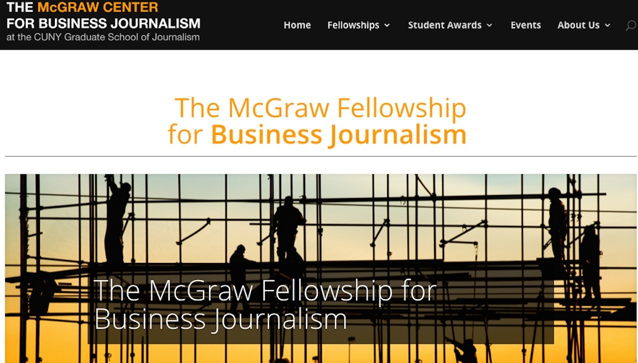 The deadline to apply for the McGraw Fellowship for Business Journalism is May 31, 2016.