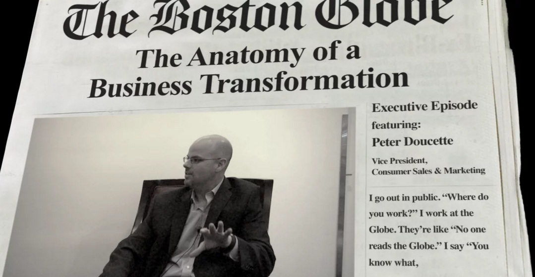 The Boston Globe is one of the metropolitan daily newspapers to find success with metered paywalls. Image is a screenshot from the MECLABS website.