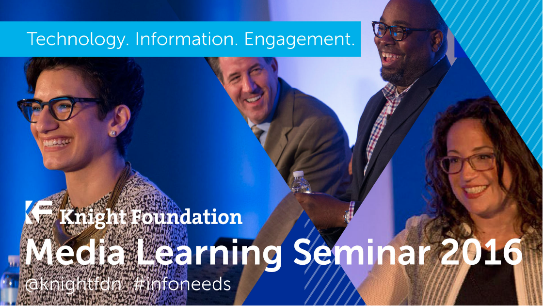 The Knight Foundation's Media Learning Seminar is streaming live today and tomorrow! Check it out here.