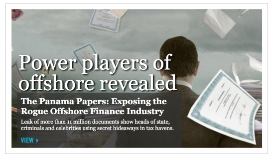 Screenshot from the ICIJ site.