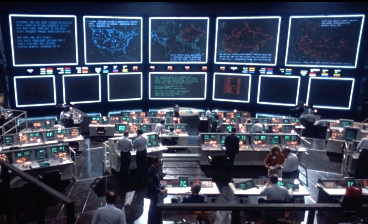 Shot from the movie War Games.