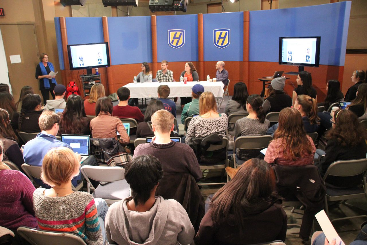 Social media jobs panel at Hofstra University