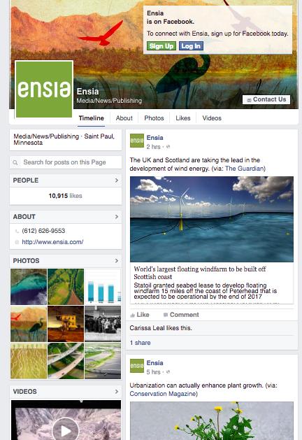 Ensia's Facebook page.