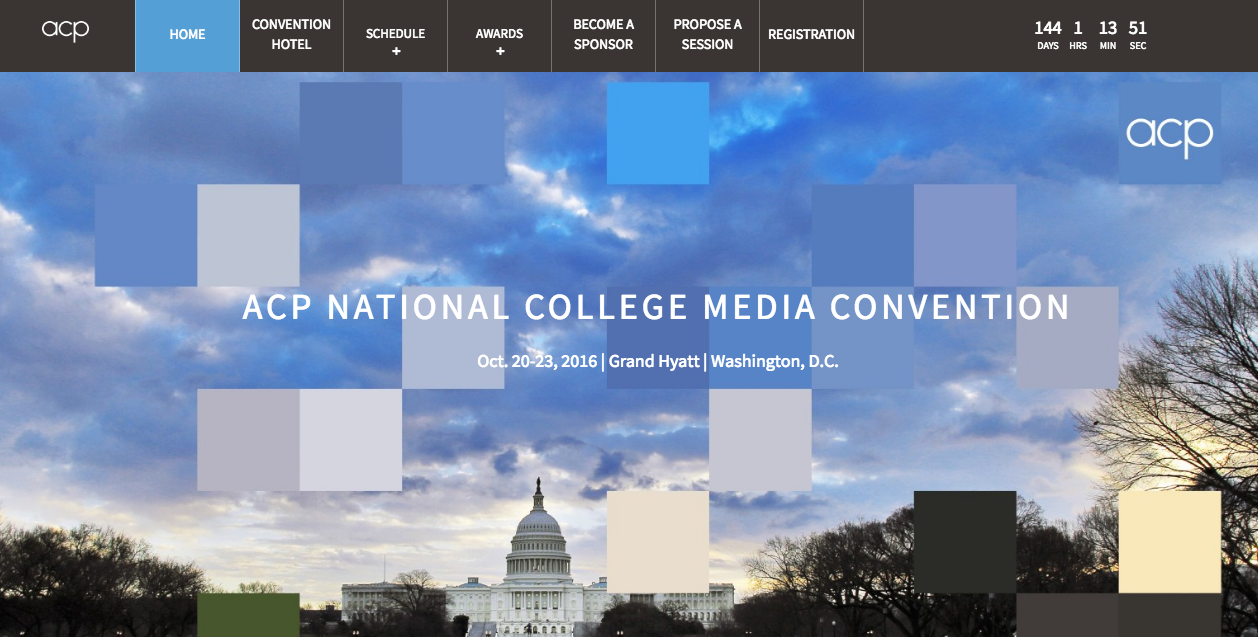 The ACP National College Media Convention in October is a new addition in this week's post.