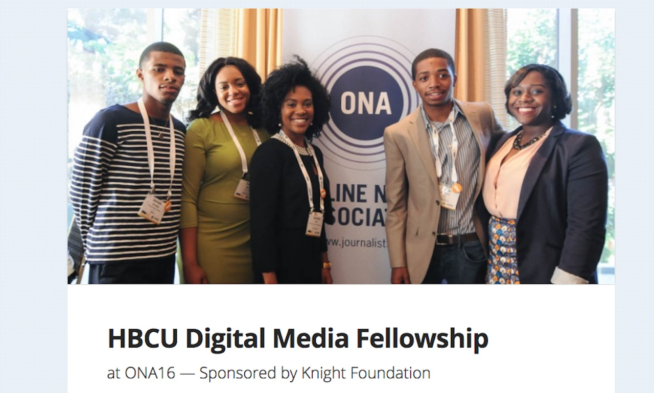 The HBCU Digital Media Fellowship is one of six addition's to this week's fellowships post. The deadline to apply is July 14, 2016.