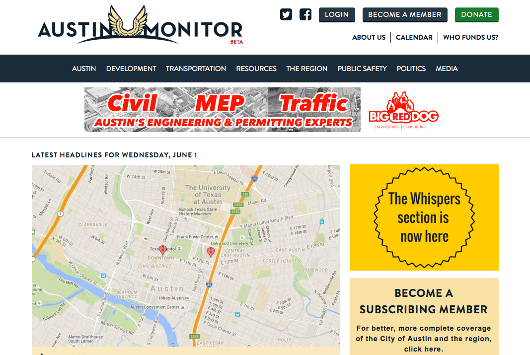 The Austin Monitor.