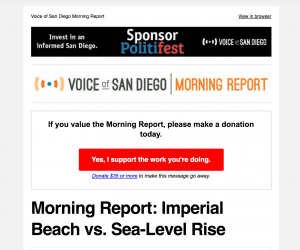 Voice of San Diego Morning Report newsletter