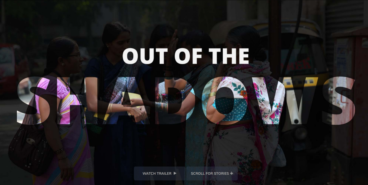"A screenshot from the Global Reporting Centre's project ""Out of the Shadows."""
