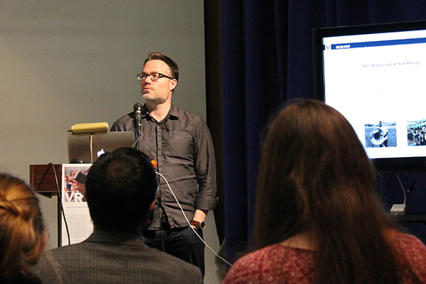 Nathan Griffiths, interactive editor at the Associated Press. Photo credit: Hofstra University