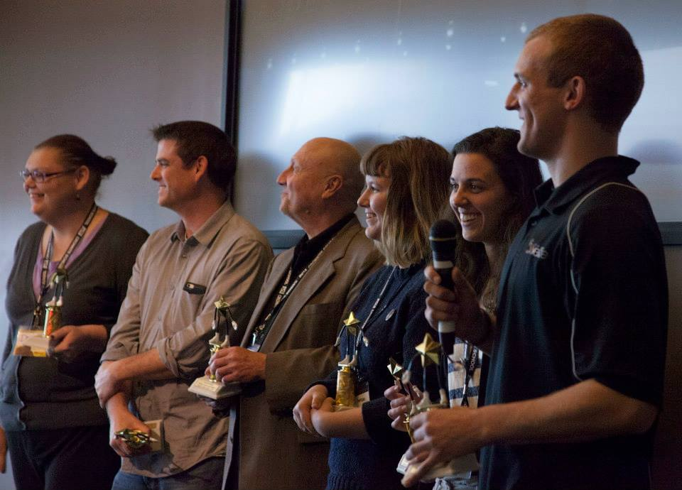The winning team of the 2nd Annual Journalism School Hackathon at Arizona State
