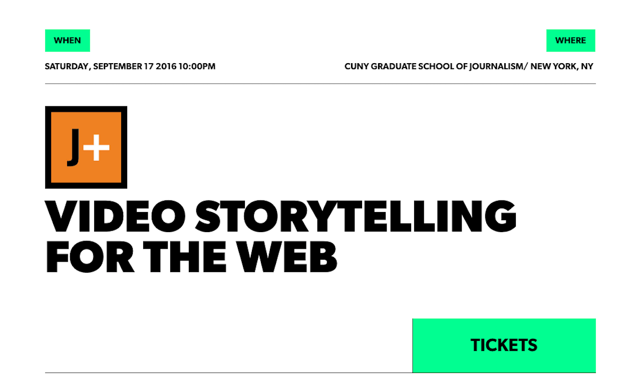 Video Storytelling for the Web with Bob Sacha is one of 16 CUNY J+ trainings scheduled for this fall.