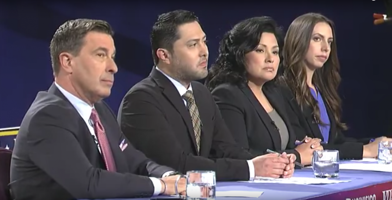 A screenshot from the live debate organized as part of the California Counts collaboration.