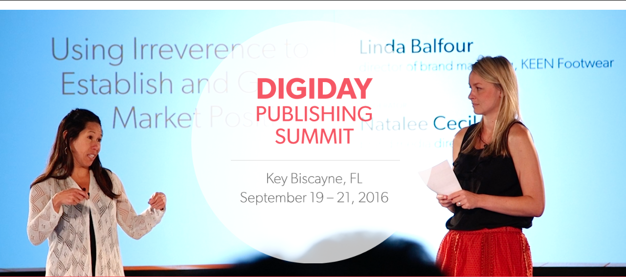 The Digiday Publishing Summit in September is a new addition to this week's post.