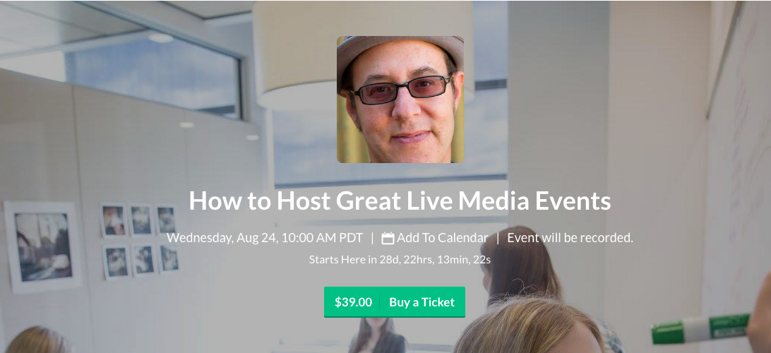 Sign up for DigitalEd's training on how to host great live media events.