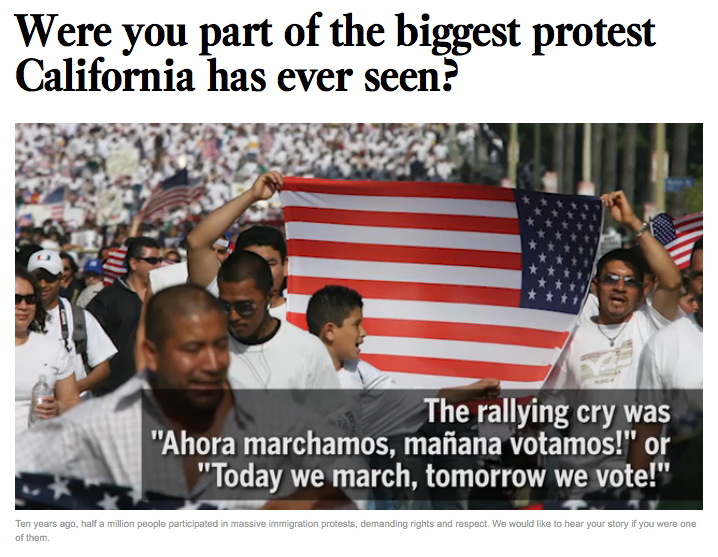 Screenshot from latimes.com