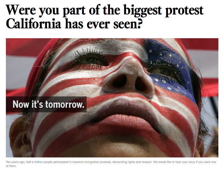 Screenshot from latimes.com