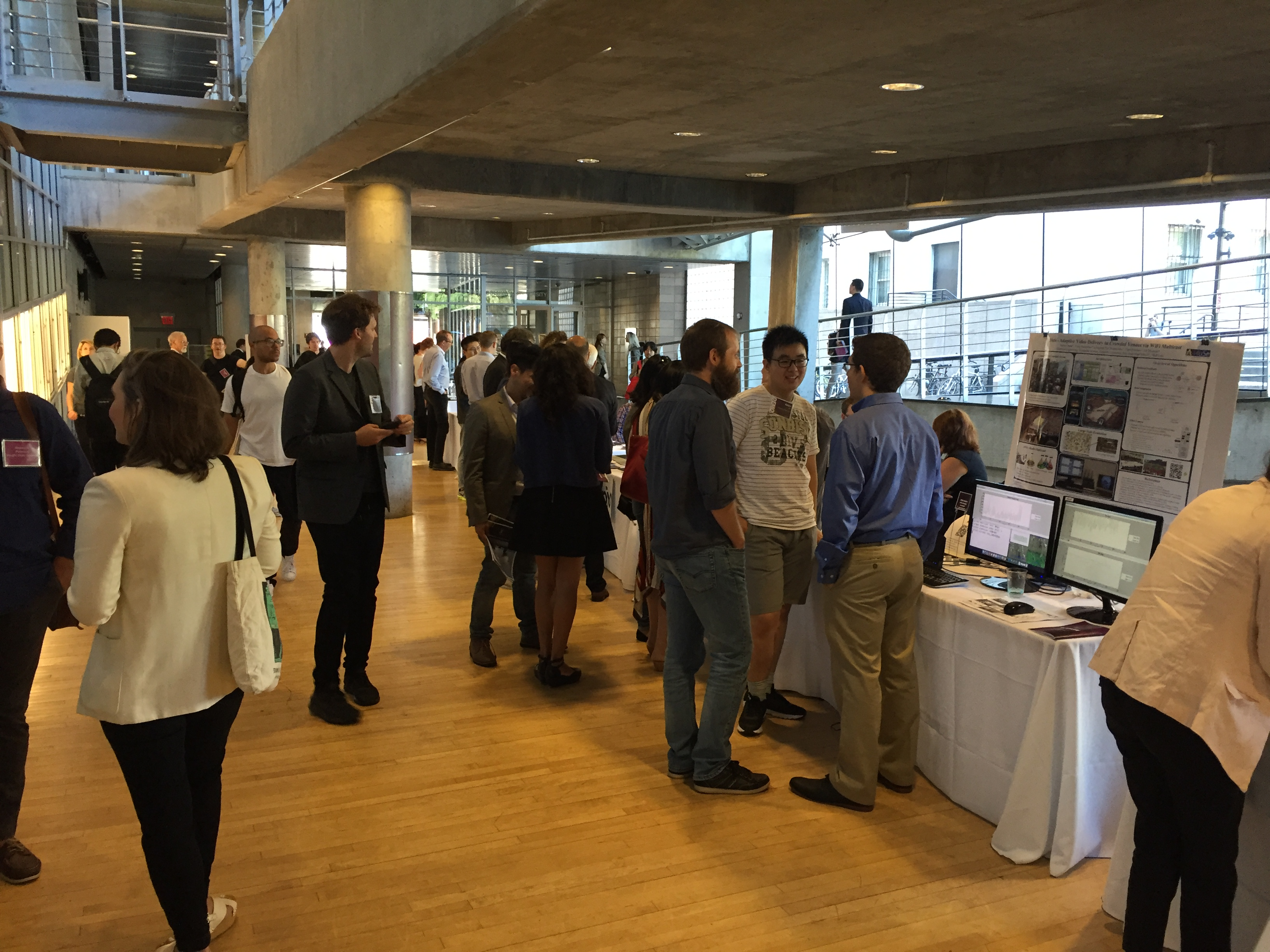 Hundreds of students displayed their work during the NYC Media Lab's Demo Showcase. Photo by Bianca Fortis.